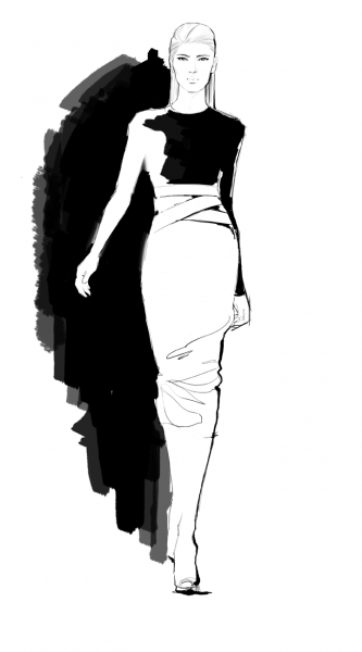 Line Art Illustration Style : Fashion costume illustration susan tait porcaro
