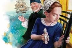 Annie listening to her grandpa's sea tales