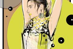 Prada SS 2016 Fashion illustration