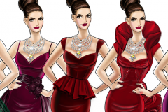 Gown concepts for Ocean's 8