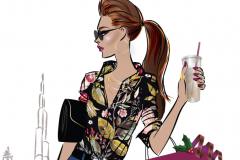 Dubai fashion illustration - client project