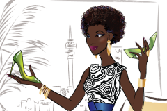 South Africa fashion illustration - client project